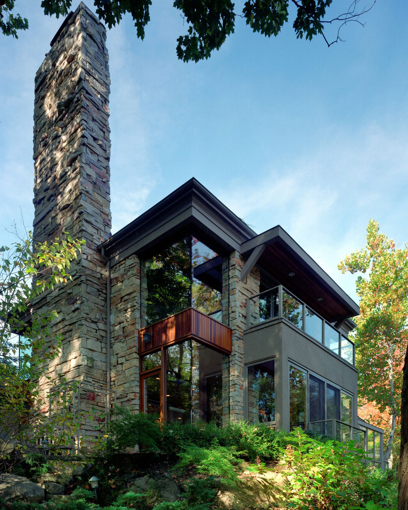 Stone Glass & Nature – New Construction, Private Residence 01