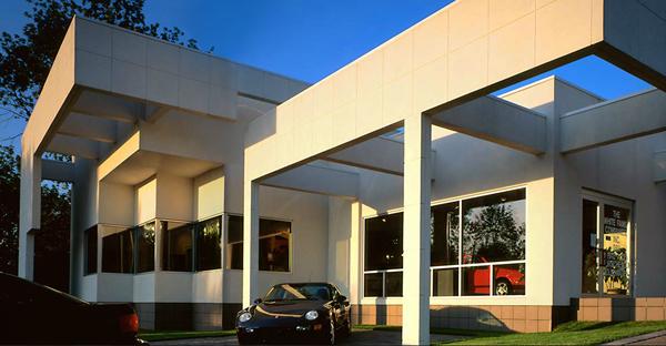 White Allen Porsche Showroom