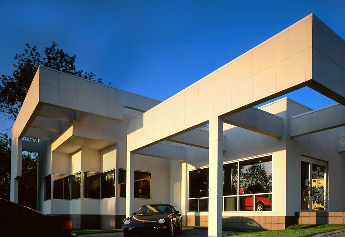 White Allen Porsche Showroom – New Construction, Commercial 01