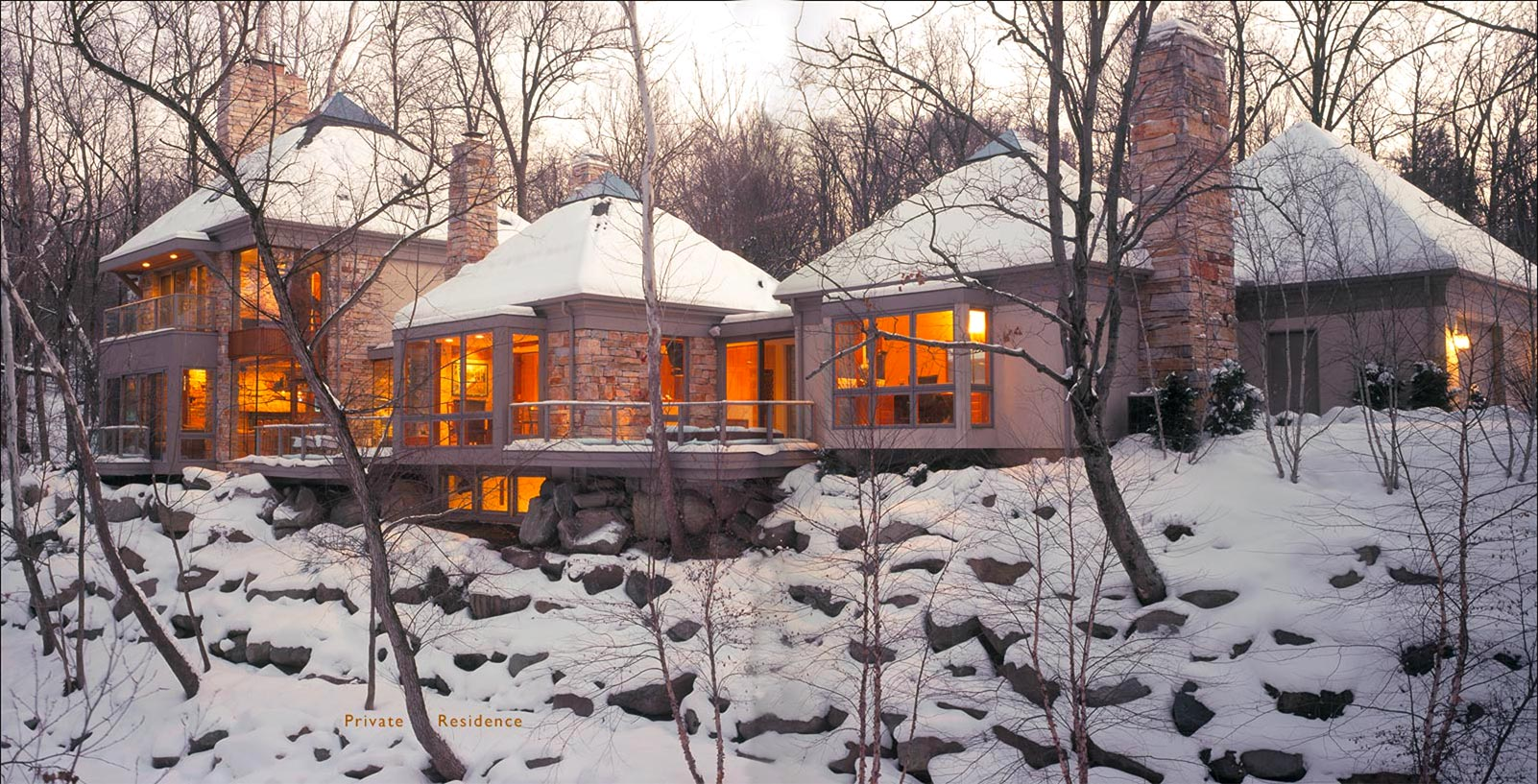 Stone Glass & Nature – New Construction, Private Residence 06